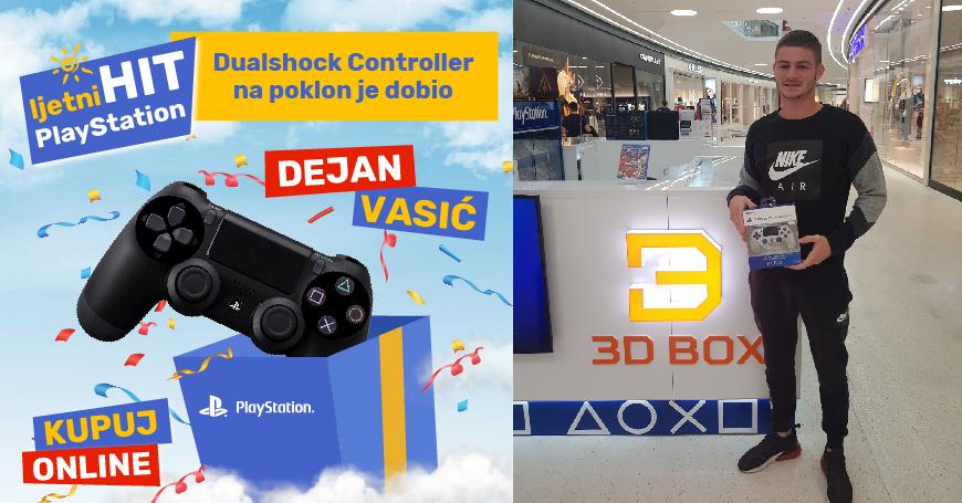 Dejan Vasić preuzeo nagradu u 3D BOX PlayStation shopu u Delta Planetu
