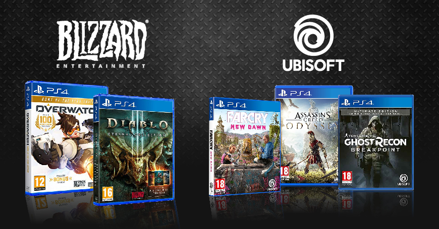 Hit naslovi Ubisoft i Blizzard igara za PS4 konzole na sniženju u 3D BOX-u