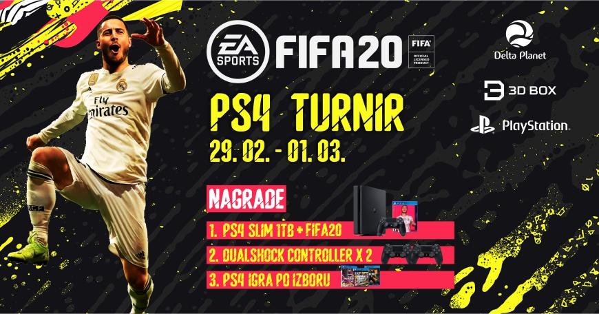 3D BOX PlayStation shop i Delta Planet organizuju Veliki PS4 FIFA 20 turnir