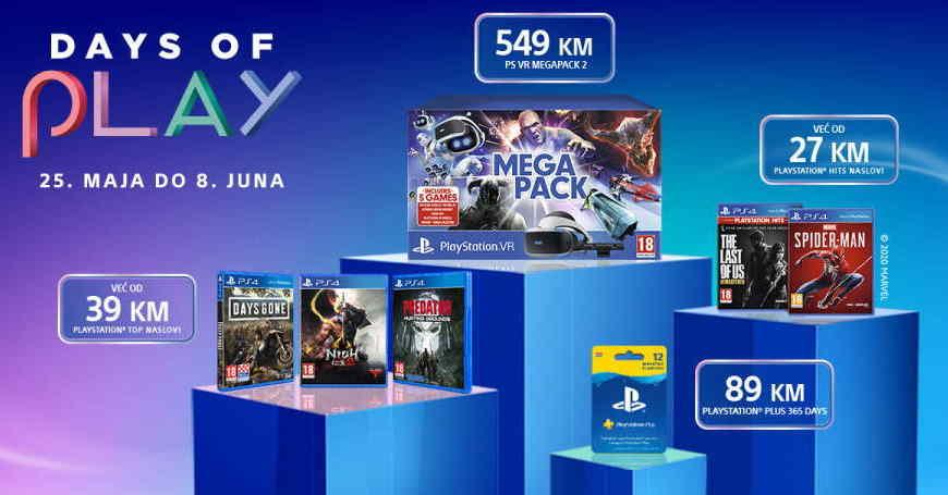 DAYS OF PLAY 2020 Najveći popust u godini na PS4 gaming je počeo!
