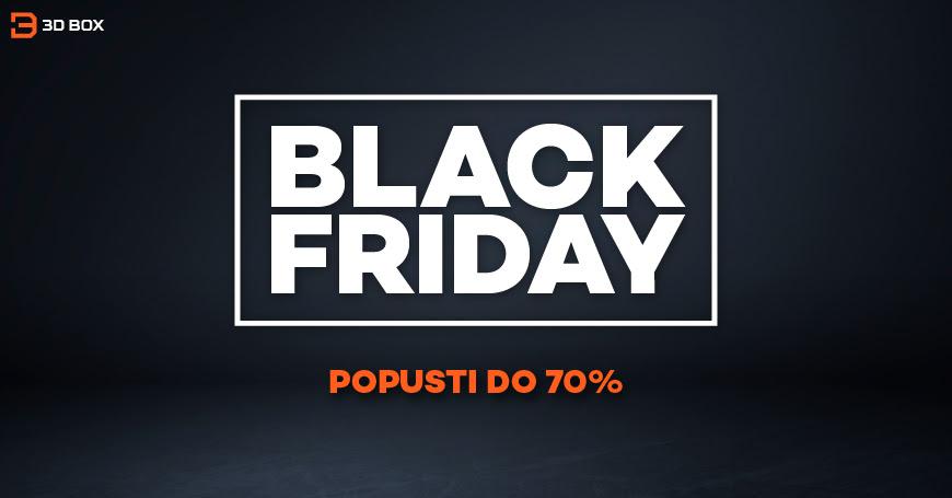 Top ponuda za najveću uštedu tokom Black Friday vikenda u 3D BOX-u