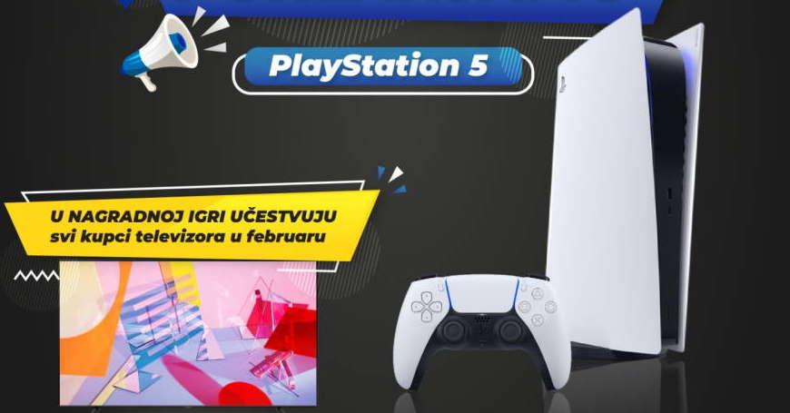 Cijele godine 3D BOX nagrađuje! U februaru kupi TV i u igri si za PS5