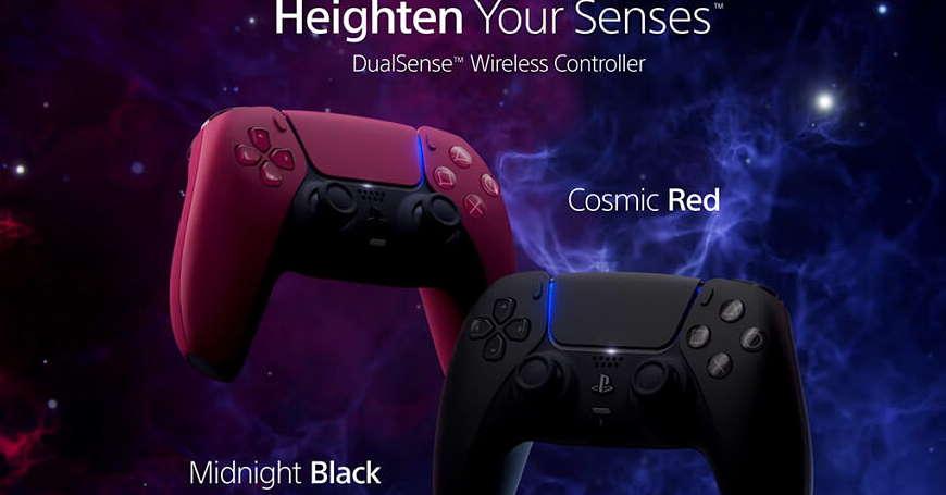 NOVO U 3D BOX-U Cosmic Red i Midnight Black kontroleri za vaše PS5 konzole